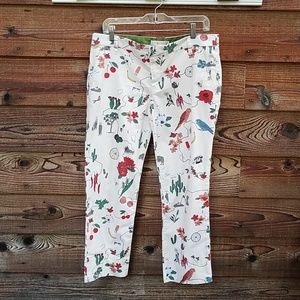 Tory burch mercat pants 28 cotton cropped
